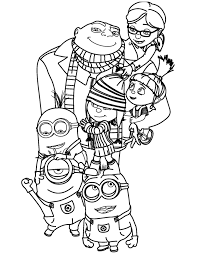 Small Picture Despicable Me Coloring Pages Printable inside Despicable Me