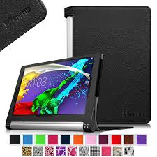 fintie lenovo yoga tablet 2 10 folio case cover with auto sleep wake fit for android and windows version black walmart