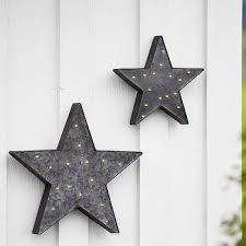 galvanized metal stars decor s