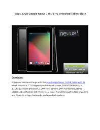 Asus Google Nexus 7 32GB Tablet with 4g ...