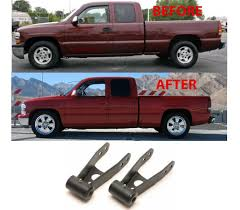 Rear Lowering Drop Shackles For 1999-2006 Chevrolet Silverado/GMC ...