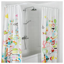 l shaped shower rod rods essential home in corner curtain oval with ceiling support spin