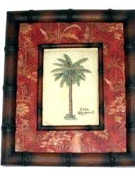 framed palm tree wall art