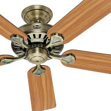 Builders Warehouse Indoor Lighting Hunter Fan 52 Inch Custom Builder Antique Brass Indoor