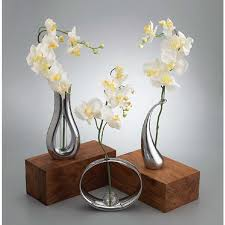 infinity vase. globe bud vase with silk orchid infinity s