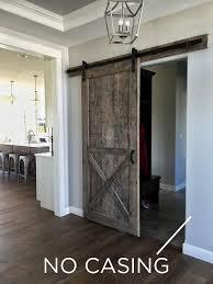 how do i mere for my sliding barn door