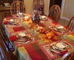 Dining Room. Modern Thanksgiving Dinner Table Settings And ...