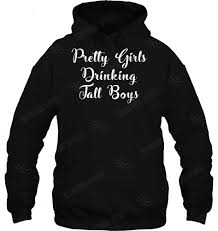 Pretty Girls Drinking Tall Boys Beer Gildan Hoodie