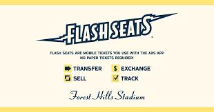 Flash Seats Forest Hills Stadium