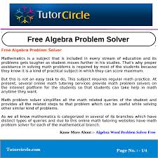 algebra problem solver best worksheet algebra problem solver gallery