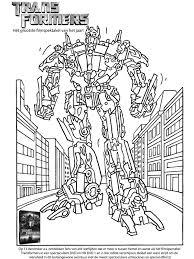 Kleurplaat Transformers Kleurplatennl