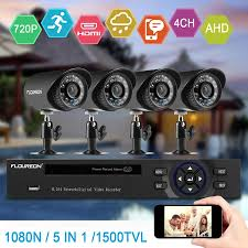 FLOUREON HD1080N Security Camera System for Home Surveillance with 4 1500TVL HD720Pro and 8CH DVR