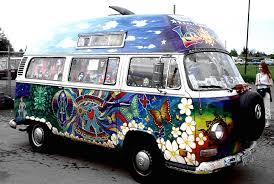 Hippie Buses Psychedelic Vw Van Art That Inspires Me Pinterest Blog