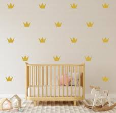 gold crown wall sticker set of 40 28