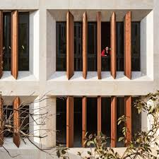 office building facades. Tehran Office Building By AWE Features Faceted Windows And Louvres Facades