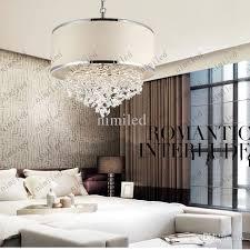 bedroom chandelier lighting. attractive bedroom chandelier lighting modern trendy white lampshade k9 crystal lamp 7