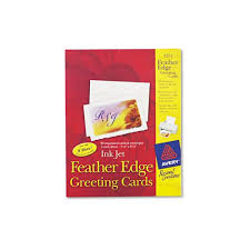 Avery Greeting Cards Avery Personal Creations Ink Jet Feather Edge Greeting Cards Envs