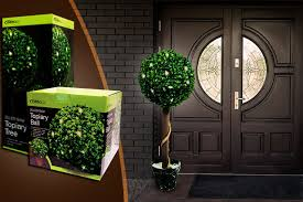 Cypress Cone Artificial Topiaries  Improvements CatalogArtificial Topiary Trees With Solar Lights