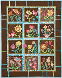 garden quilt. My Whimsical Quilt Garden