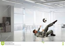 Playing Office Soccer Mixed Media Stock Photo Image Of