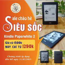 Máy đọc sách Kindle Paperwhite 2 (6th) Kindle PPW2 có đèn nền màn hình  6inch 212PPI RAM 512mb bộ nhớ 2/4GB lưu trữ