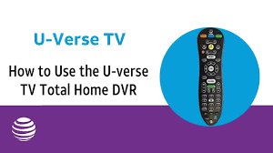 how to use the u verse tv total home dvr at t u verse