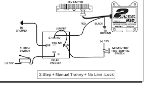 msd 6al 2 step wiring question ford mustang forums corral net for it to activate you can release the momentary and the pedal pressed down it will hold the 2step on until clutch is release and not come on
