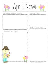 Monthly Newsletter Template For Teachers Elegant Free March Preschool Newsletter Template Printable Monthly