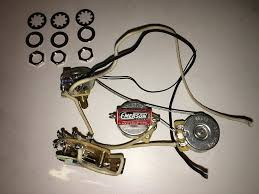 emerson custom 5 way strat prewired kit 250k wiring harness pots made in usa stratocaster