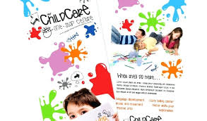 Daycare Brochure Template Flyer Templates Samples Beautiful Child