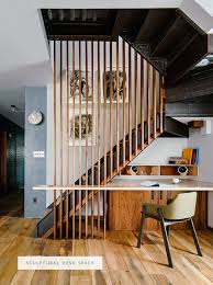 architectural detail in this desk space under the stairs | coco+kelley - in  the