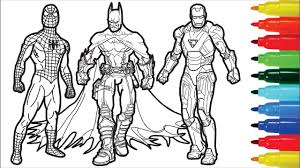 Nothing is impossible to a young mind. Spiderman Iron Man Batman Captain America Wolverine Coloring Pages Superheros Coloring Pages Youtube