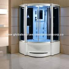 showers jacuzzi steam shower indoor of blue tempered glass door china bath