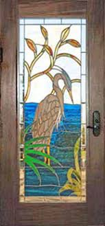 Glass door designs Office Custom Stained And Leaded Glass Great Blue Heron Door Creative Mirror Shower Stained Glass Doors Leaded Glass Beveled Doors Custom Glass Design
