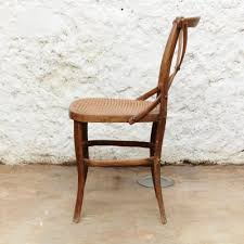 Model 91 Wood And Rattan Side Chair From Thonet 1920s For Sale At Pamono