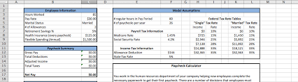 Paycheck Deductions Calculator Solved Enter The Hours Worked And Pay Rate For The Employ
