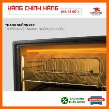 Lò nướng sunhouse SHD4206, Lò nướng điện Sunhouse 10L công nghệ nướng  Halogen tiết kiệm điện năng., Giá tháng 11/2020