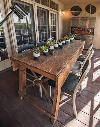 primitive industrial farmhouse style dining table workbench with wood vise leg for 5