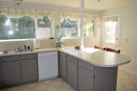 Refinishing Formica Kitchen Cabinets Diy Cabinet Paint Fabulously Finished