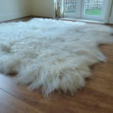 octo white icelandic sheepskin rug throughout sheep skin idea 10