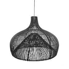 Rotan Lamp Seminyak Zwart M 70 Cm Skyler Store