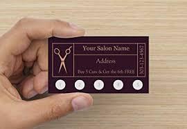 Amazoncom Customize Your Company Hair Salon Loyalty Punch