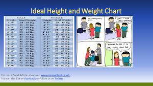 Ideal Height And Weight Chart Weight Charts Height