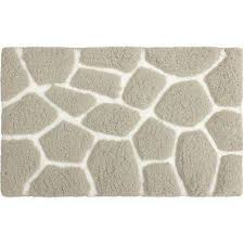 microfiber pebble 20 in x 32 in bath rug light grey white