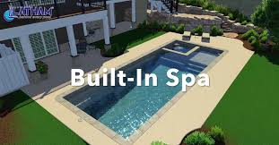 fiberglass pool with built in spa