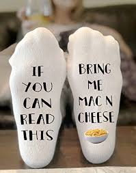 if you can read this bring me mac n cheese novelty funky crew socks men women gifts cotton slipper socks food gifts gifts