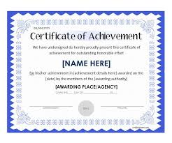 Certificate Of Excellence Template Word Mesmerizing 48 Great Certificate Of Achievement Templates FREE Template Archive