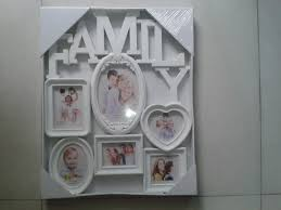 home decoratio 5 photos big plastic wall hanging family photo frame family picture frame