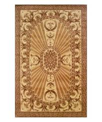 love this product light brown cream carved greek key wool rug