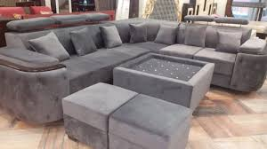 l shape 7 seater sofa set with 2